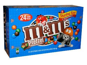 King Size M&M's Pretzel - 24ct