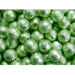 Leaf Green Foil Chocolate Balls - 10lbs