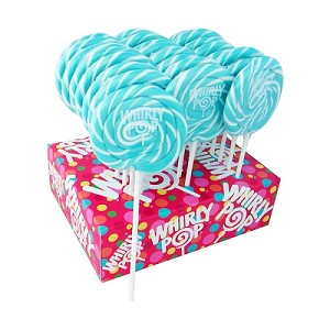 Light Blue & White Whirly Pops - 1.5oz - 24ct