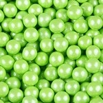 Lime Green Shimmer Sixlets - 12lbs