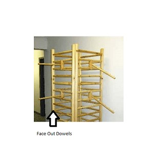 Log Wood Dowel Rack Face-out - 14""