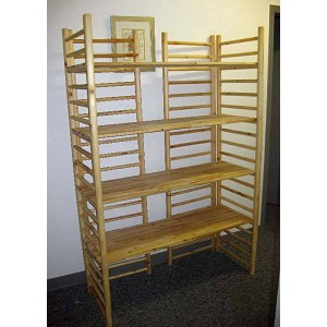 Log Wood Dowel Ladder Rack - 5ft