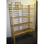 6' Foot Log Wood Dowel Ladder Rack