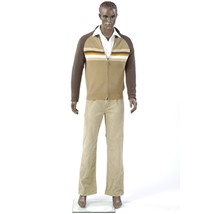 Male African American Mannequin - Molded Hair