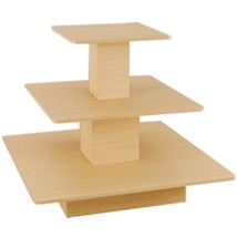 Maple 3 Tier Square Table