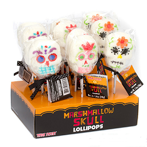 Marshmallow Skull Lollipops  - 12ct