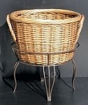 Medium Willow Basket And Floor Stand