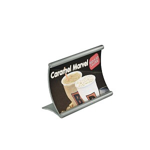 "Curved Metal Counter Sign Holder - 6"" x 4"""