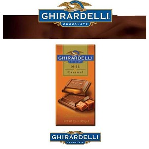 Ghirardelli Milk Chocolate and Caramel Bars  - 12ct