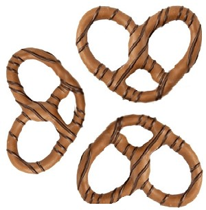Milk Chocolate Dark Striped Pretzels - 3lbs