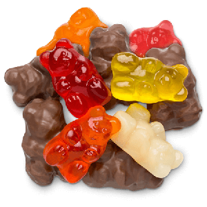 Chocolate Gummi Bears - 9lbs
