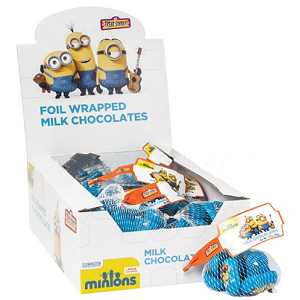 Minions Foil Wrapped Milk Chocolates - 24ct