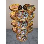 12 Basket Wicker Display With 12 Flavors of Taffy