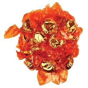 Orange Wrapped Orange Candies - 5lbs