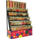 5 Tier Candy Rack with Acrylic Bins and 8 Tubes