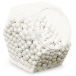 White Shimmer Sixlets - 12lbs