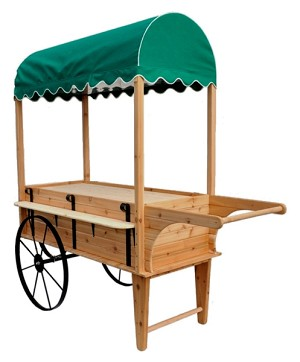 Peddlers Cart With Canopy