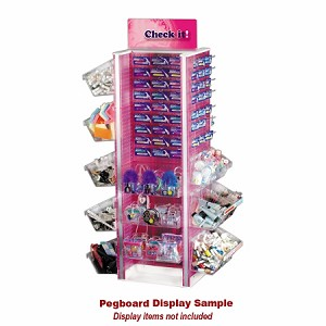 Neon Pegboard Floor Display H-Spinner