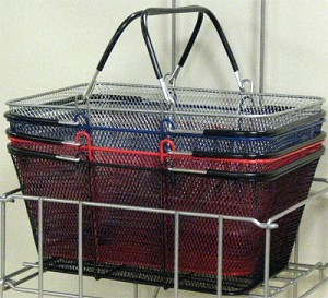 Perforated Metal Baskets - 6ct
