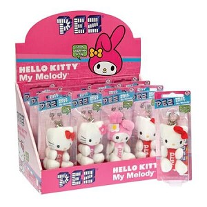 Hello Kitty Plush PEZ Blister Pack  - 12ct