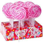 Pink & White Whirly Pops - 1.5oz - 24ct