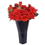 Plastic Cone Style Floral Vases - 6ct