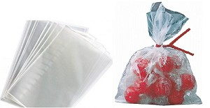 "Flat Poly Bags - 4"" x 6"" - 5000ct"