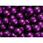 Purple Foil Chocolate Balls - 10lbs