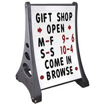 Quick Loading Double Sided Rolling Sidewalk Sign