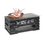 Rectangle Black Warmer w/Grill Top