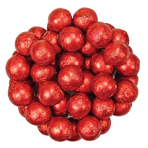 Red Foil Chocolate Balls - 10lbs