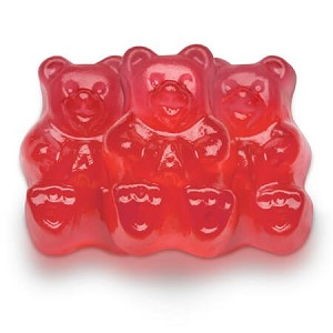 Red Fresh Strawberry Gummi Bears - 5lbs
