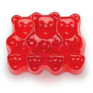 Red Raspberry Gummi Bears - 20lbs