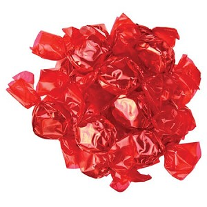 Red Wrapped Cherry Candies - 5lbs