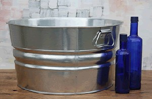 Round Steel Tub - 11 Gallon