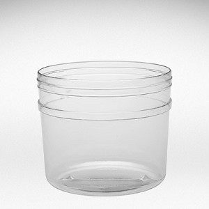 124 oz Round Tubs With Knob Lids - 24ct