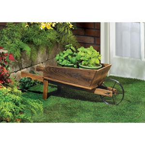 Rustic Flower Cart Planter