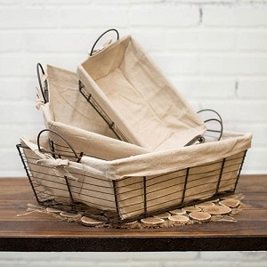Rectangular Wire Baskets - Set of 3