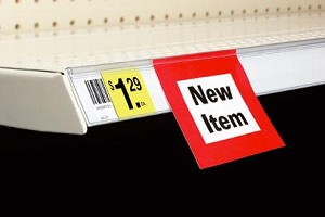 Shelf Channels Self-Adhesive Label Holder