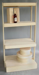 Four Shelf Display Rack - Straight or Tiered
