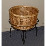 Short Willow Basket And Floor Stand