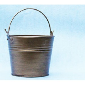 Small Metallic Painted Tin Pails - Color Option - 4ct