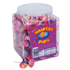 Smarties Double Lollies - Wrapped - 120ct Jar