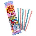 Cotton Candy Sour Power Straws - 24ct