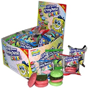 Sponge Bob Giant Gummy Colors Krabby Patty - 36ct