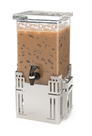 Square Beverage Dispenser - Stainless Steel Base