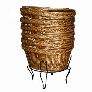 Stackable Willow Shopping Baskets - 8ct
