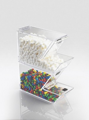 Stackable Topping Dispenser - Magnetic Hinged Lid