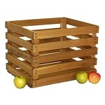 Stained Bushel Crate - Set of 3