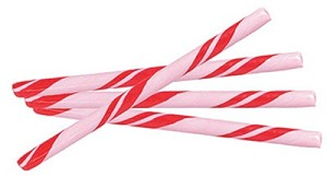 "Strawberry Candy Sticks - 7"" - 100ct"